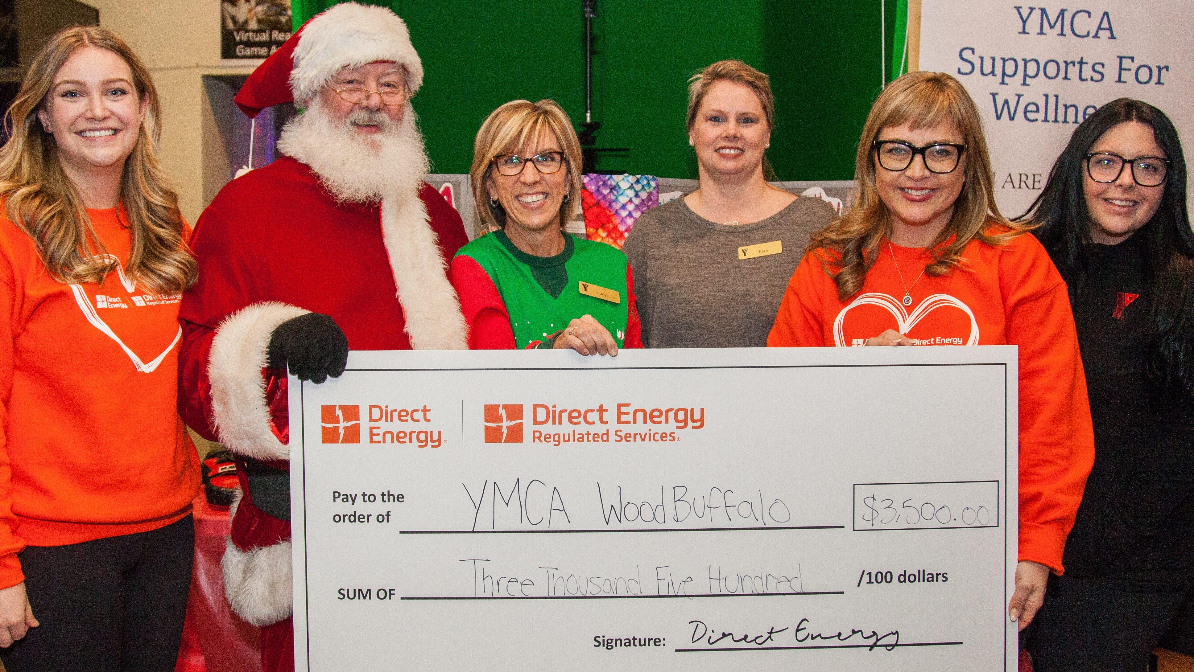 Direct Energy donates $3,500 to the YMCA of Wood Buffalo
