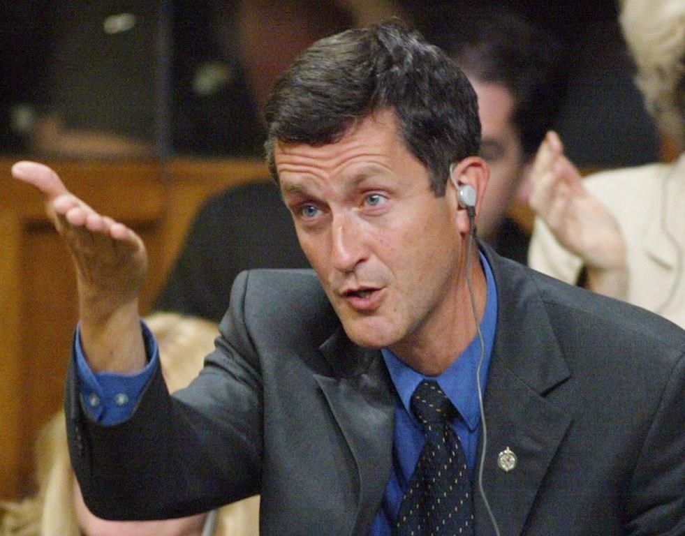 Svend Robinson became in the first openly gay candidate for
